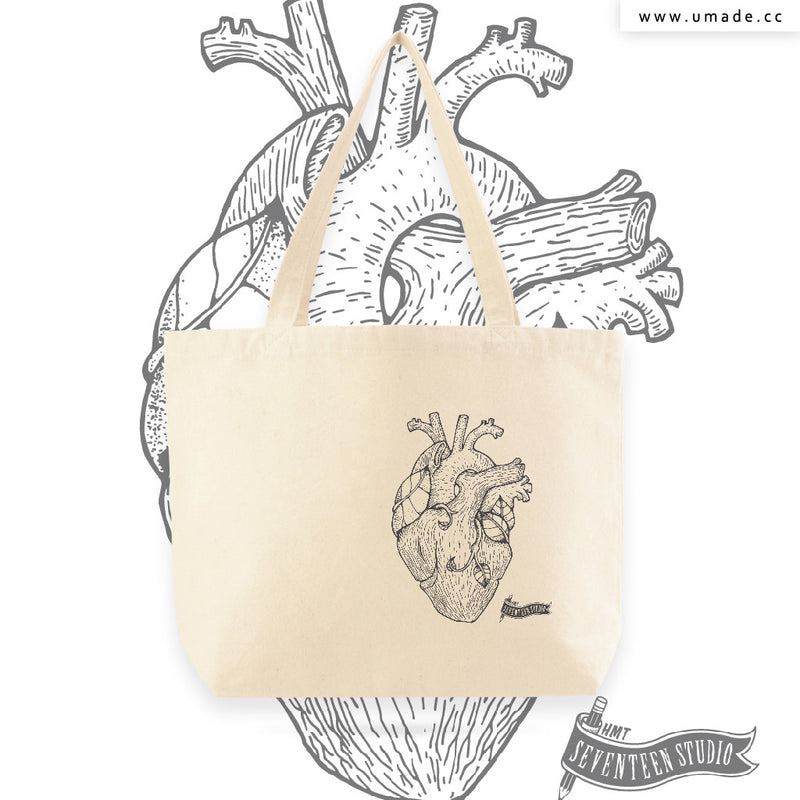 UMade Artist Large Tote Bag 藝術家創作帆布包-Tree Heart-Seventeen