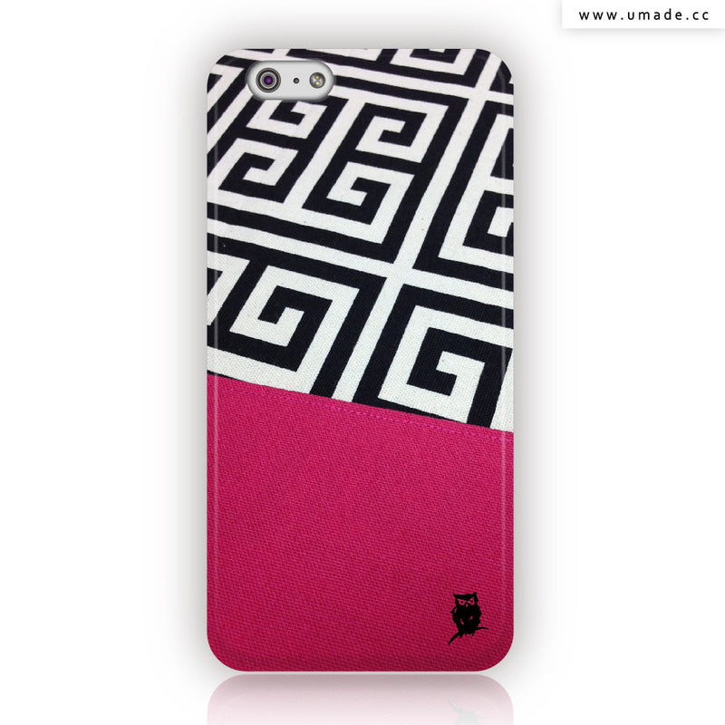 ★iPhone Case★ Greek Key In Hot Pink - Jenn.Y