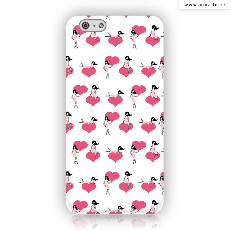 Umade ★iPhone Case★  Pretty Girl's Sweet heart- Naho Ogawa