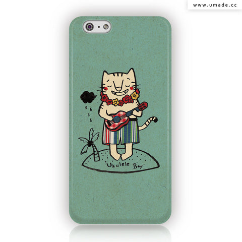 Umade ★iPhone Case★ Ukulele Boy 烏克麗麗男孩 - Pomme Go 蘋果