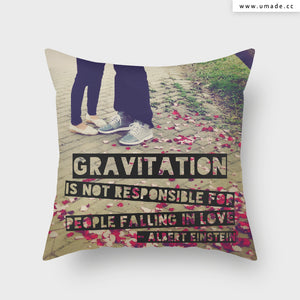 UMade Artist Throw Pillow★藝術家創作抱枕★Gravitation, love, and a proposal. 引力, 愛, 求婚 -Jenn.Y