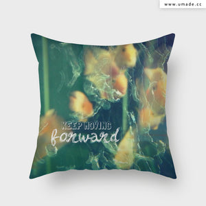 UMade Artist Throw Pillow★藝術家創作抱枕★ Keep Moving (Swimming) Forward 泳敢向前 -Jenn.Y