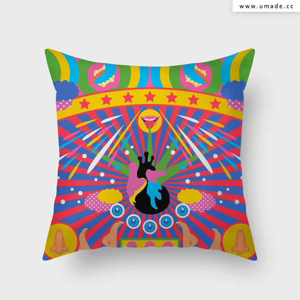 UMade Artist Throw Pillow★藝術家創作抱枕★ Contaminated Heart 黑心 - MIKEI HUANG