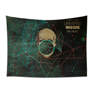 ★壁幔Wall Tapestry★  A Part of The Universe Inside My Head-Frank Moth