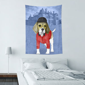 UMade★壁幔Wall Tapestry★ Beagle With Beaulieau Palace - Barruf