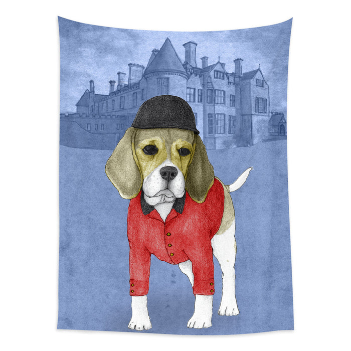 ★壁幔Wall Tapestry★  Beagle With Beaulieau Palace