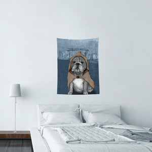 UMade★壁幔Wall Tapestry★ English Bulldog With Stonehenge - Barruf