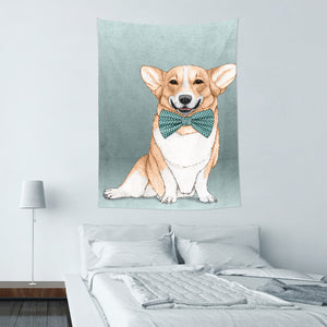 UMade★壁幔Wall Tapestry★ Corgi Dog - Barruf