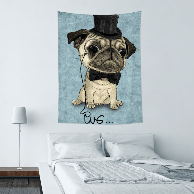 UMade-壁幔Wall Tapestry- Pug; Gentle Pug - Barruf