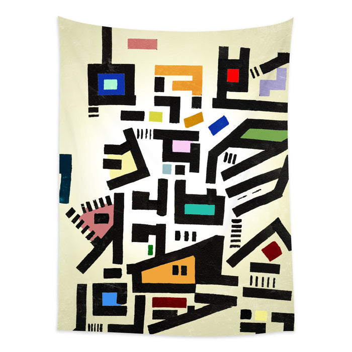 ★壁幔Wall Tapestry★  Colorful City Disorganitzation
