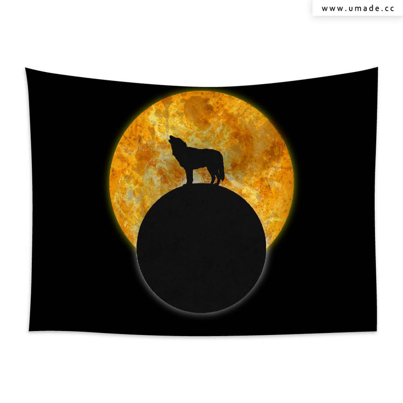 UMade★壁幔Wall Tapestry★ Wolf moon - Barruf