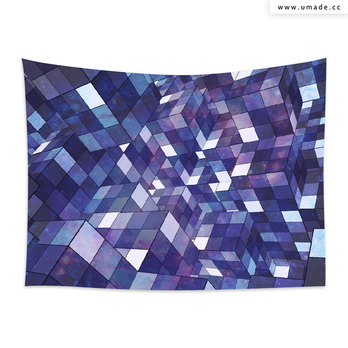 ★壁幔Wall Tapestry★ Purple Rubik Abstract