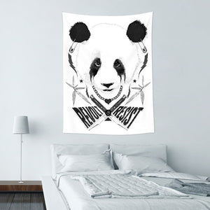 ★壁幔Wall Tapestry★ Black Metal Panda - Raphaël Vicenzi