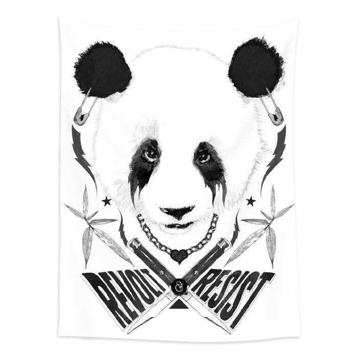 ★壁幔Wall Tapestry★  Black Metal Panda