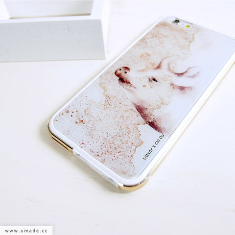 UMade iPhone case/iPhone手機殼-亮面硬殼-i6p/i6-金色-Chi Ou