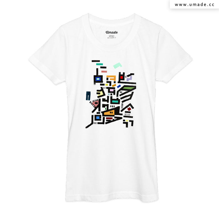 ★T-Shirt - Women 女短T★Colorful City Disorganitzation - Barruf