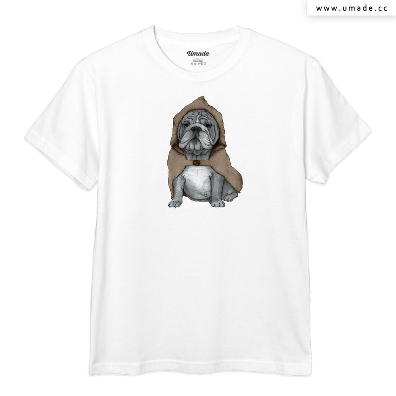 UMade Artist T-Shirt 藝術家創作T恤-English Bulldog With Stonehenge - barruf