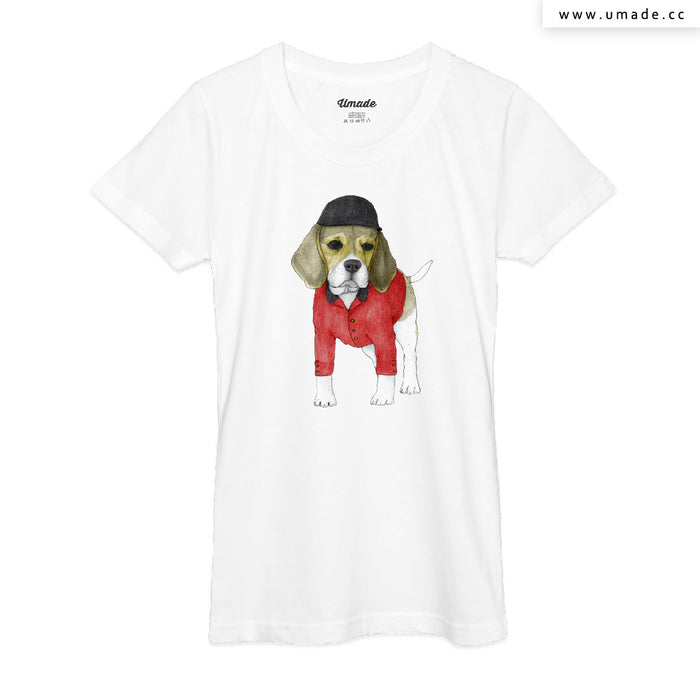 ★T-Shirt - Women 女短T★ Beagle With Beaulieau Palace - Barruf