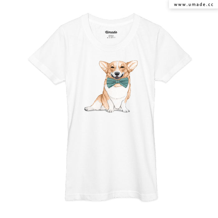 ★T-Shirt - Women 女短T★Corgi Dog - Barruf