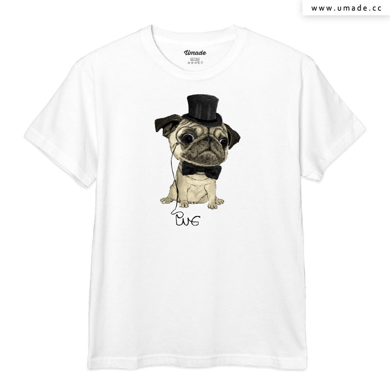 UMade Artist T-Shirt 藝術家創作T恤-Pug; Gentle Pug - barruf