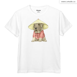 UMade Artist T-Shirt 藝術家創作T恤-Shar Pei With The Great Wall - barruf