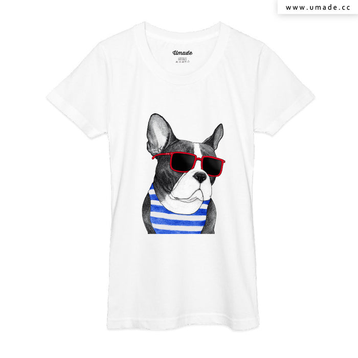 ★T-Shirt - Women 女短T★ Frenchie Summer Style - Barruf