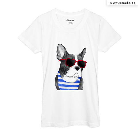 UMade Artist T-Shirt 藝術家創作T恤Frenchie Summer Style - barruf