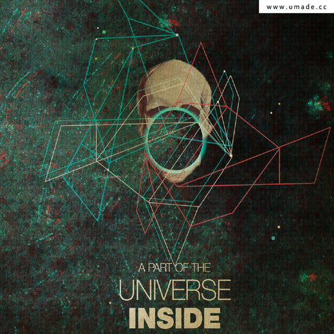 UMade Artist T-Shirt 藝術家創作T恤  -A Part of The Universe Inside My Head- Frank Moth