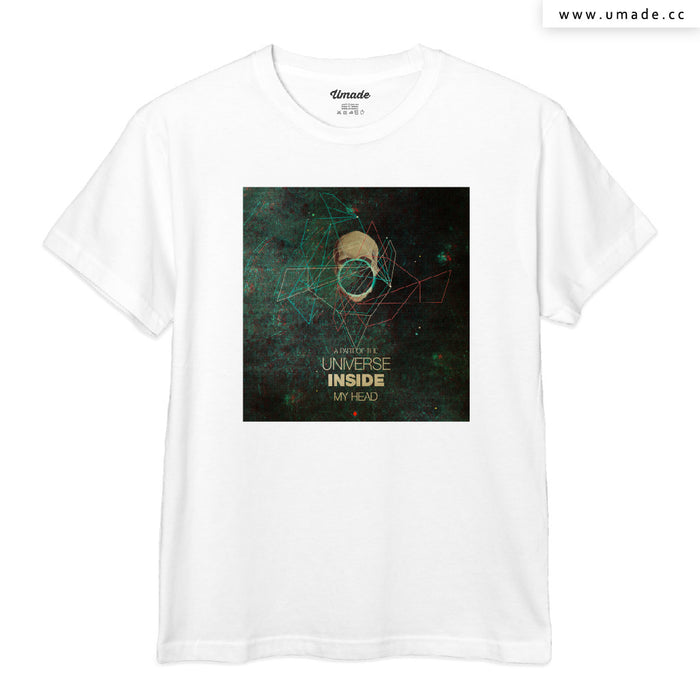 ★T-Shirt - Men 男短T★  A Part of The Universe Inside My Head - Frank Moth