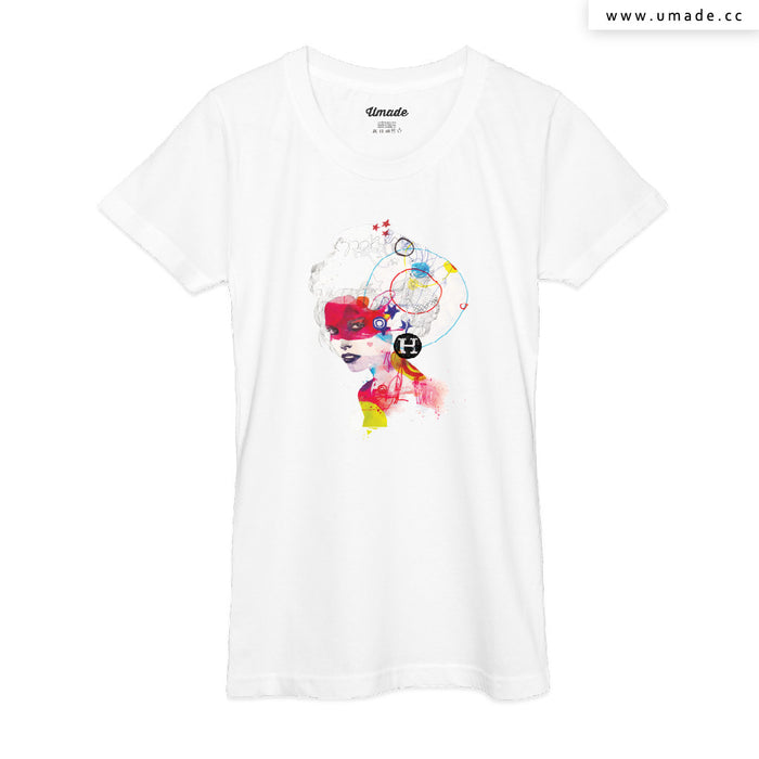 ★T-Shirt - Women 女短T★  Broken Hearted Heroes - Raphaël Vicenzi