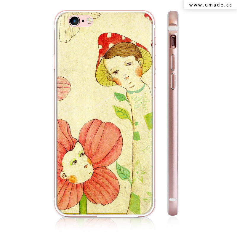 UMade iPhone case/iPhone手機殼-亮面硬殼-i6p/i6-玫瑰金色-Chichi Huang