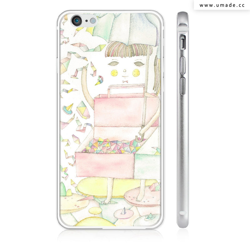 UMade iPhone case/iPhone手機殼-亮面硬殼-i6p/i6-up6銀色-Albee