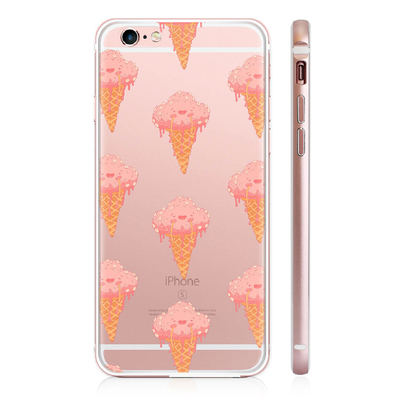 UMade iPhone case/iPhone手機殼-亮面硬殼-玫瑰金色-i6p/i6-Ice cream(透明款) - Alex
