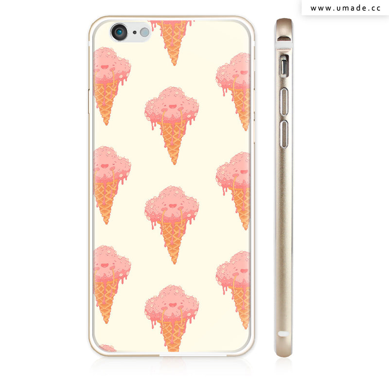 UMade iPhone case/iPhone手機殼-亮面硬殼-i6p/i6-金色-Ice cream - Alex