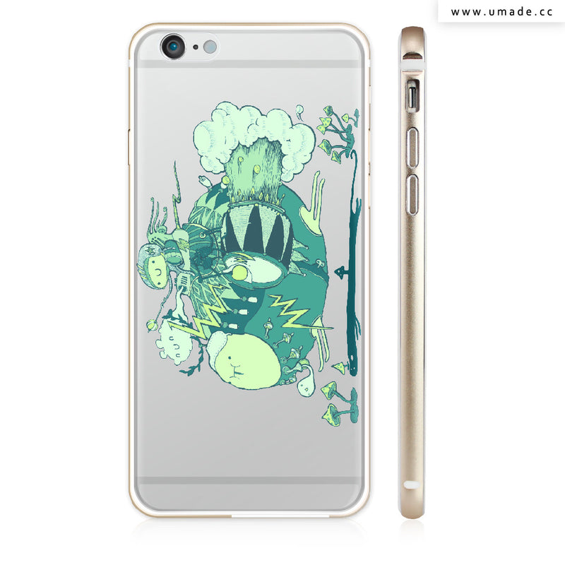 Made iPhone case/iPhone手機殼-亮面硬殼-i6p/i6-金色- Walk with a friend - Alex