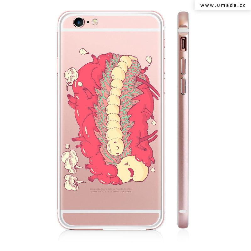 Made iPhone case/iPhone手機殼-亮面硬殼-i6p/i6-玫瑰金-Jelly heart - Alex
