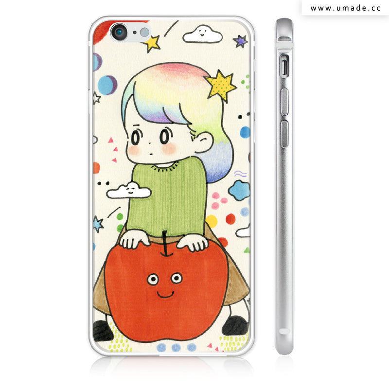 UMade iPhone case/iPhone手機殼-亮面硬殼-i6p/i6-銀色-AWAI