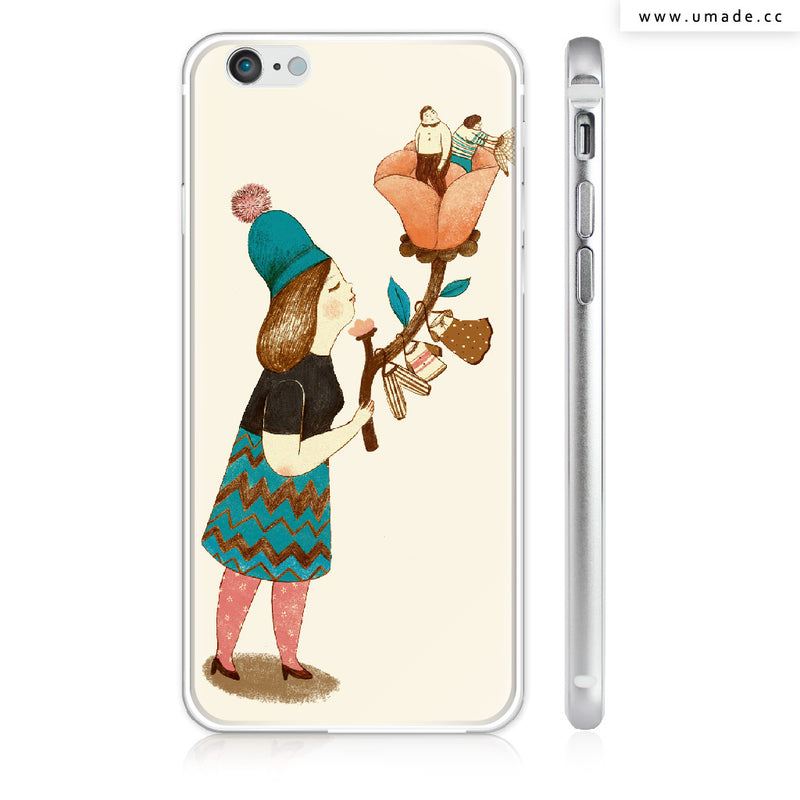 UMade iPhone case/iPhone手機殼-亮面硬殼-i6p/i6-銀色-Chichi Huang