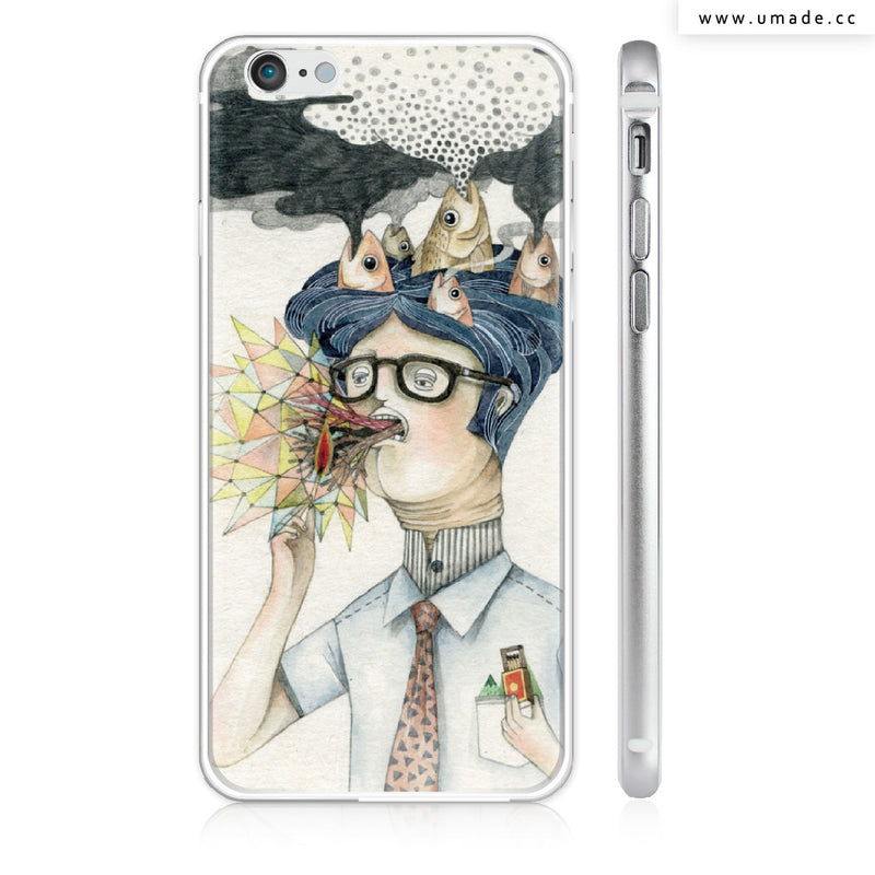 UMade iPhone case/iPhone手機殼-亮面硬殼-i6p/i6-銀色-莉淇Lichi G.