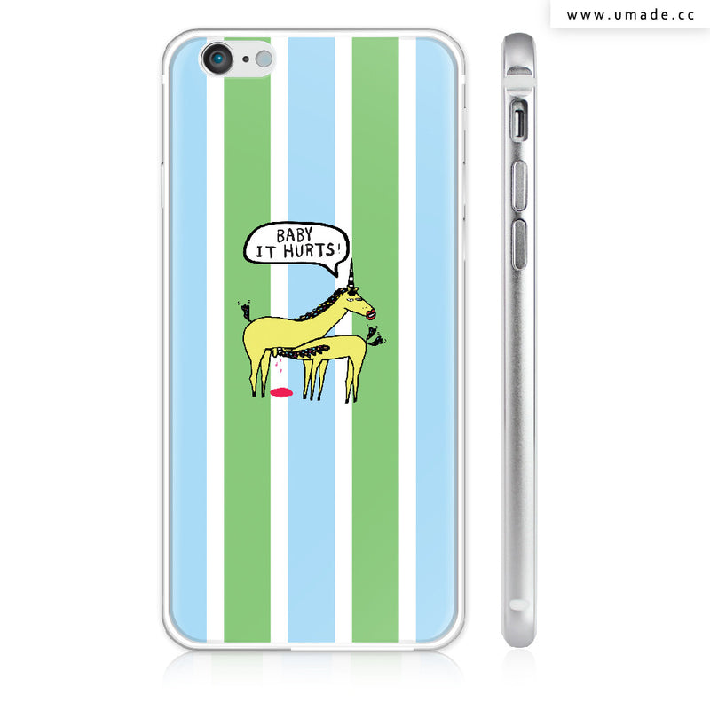 UMade iPhone case/iPhone手機殼-亮面硬殼-i6p/i6-銀色-Ponga Huang