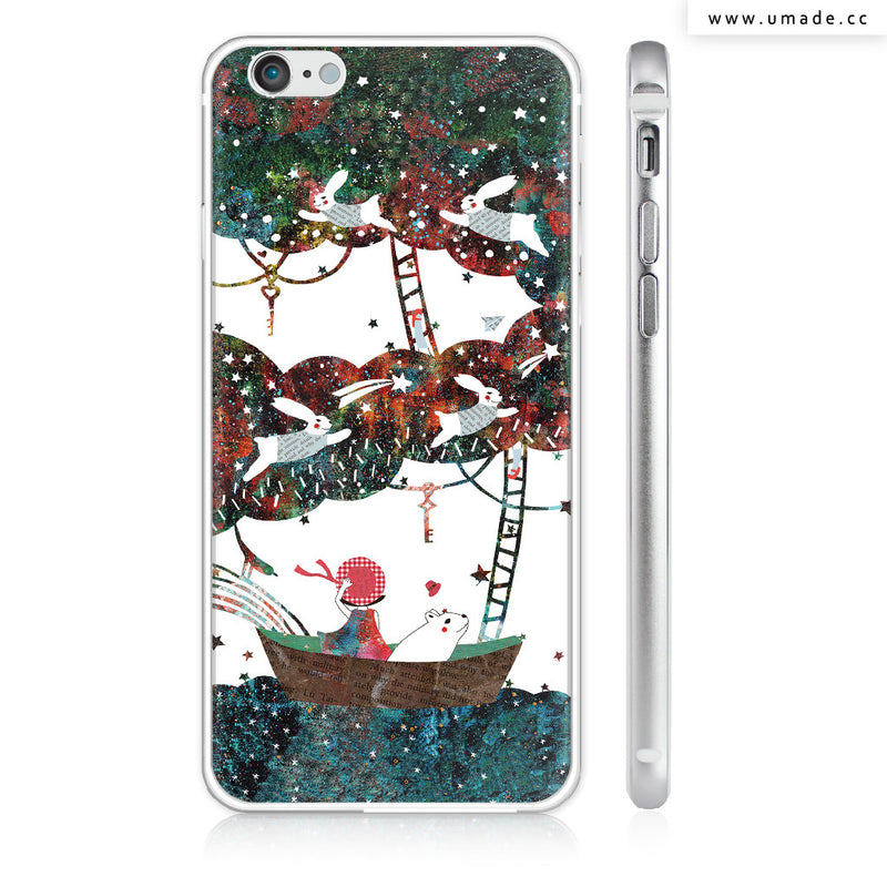 UMade iPhone case/iPhone手機殼-亮面硬殼-i6p/i6-銀色-Pomme Go 蘋果