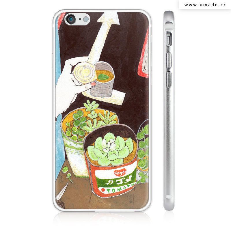 UMade iPhone case/iPhone手機殼-亮面硬殼-i6p/i6-銀色-裴小馬Pony Pei
