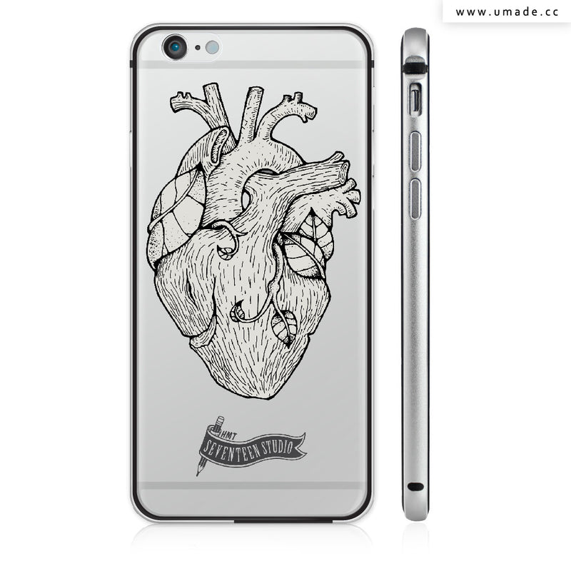 UMade iPhone case/iPhone手機殼-金屬邊框亮面硬殼-Tree Heart-Seventeen