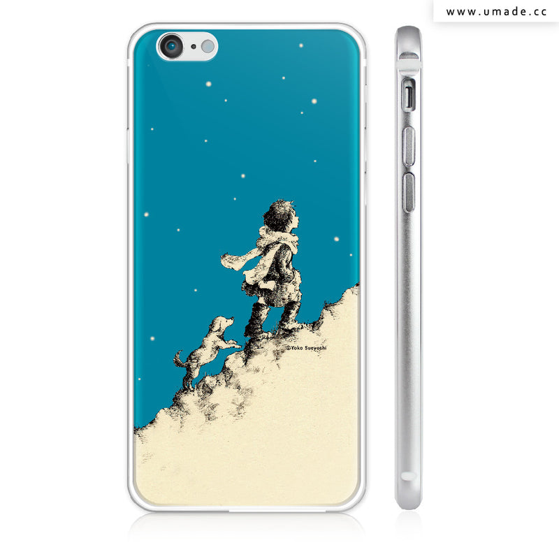 UMade iPhone case/iPhone手機殼-亮面硬殼-i6p/i6-銀色-Yoko Sueyoshi末吉陽子