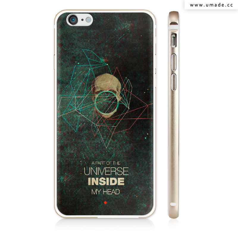 UMade iPhone case/iPhone手機殼-矽膠軟殼-鏡面硬殼-A Part of The Universe Inside My Head-Frank Moth