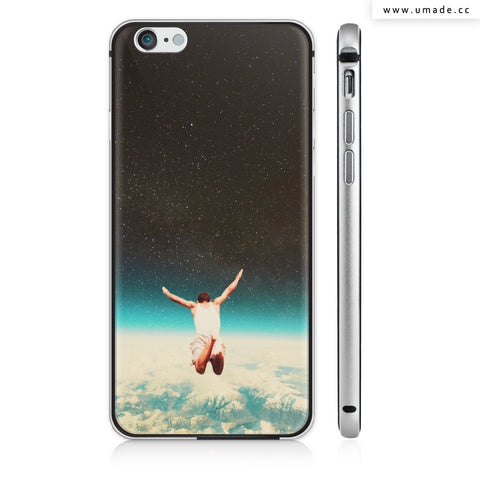 UMade iPhone case/iPhone手機殼-矽膠軟殼-鏡面硬殼-Falling With A Hidden Smile-Frank Moth