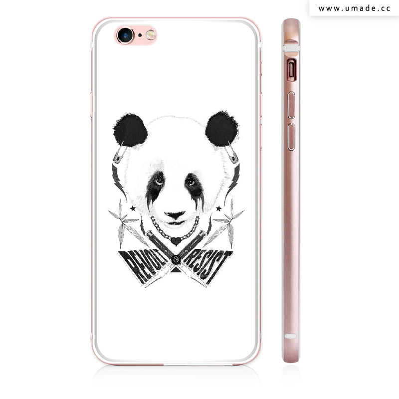 UMade iPhone case/iPhone手機殼-亮面硬殼-Black Metal Panda - Raphaël Vicenzi