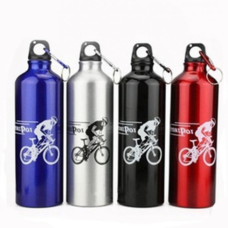 750ml Non-toxic Odorless Aluminum Alloy Sports Water Bottles
