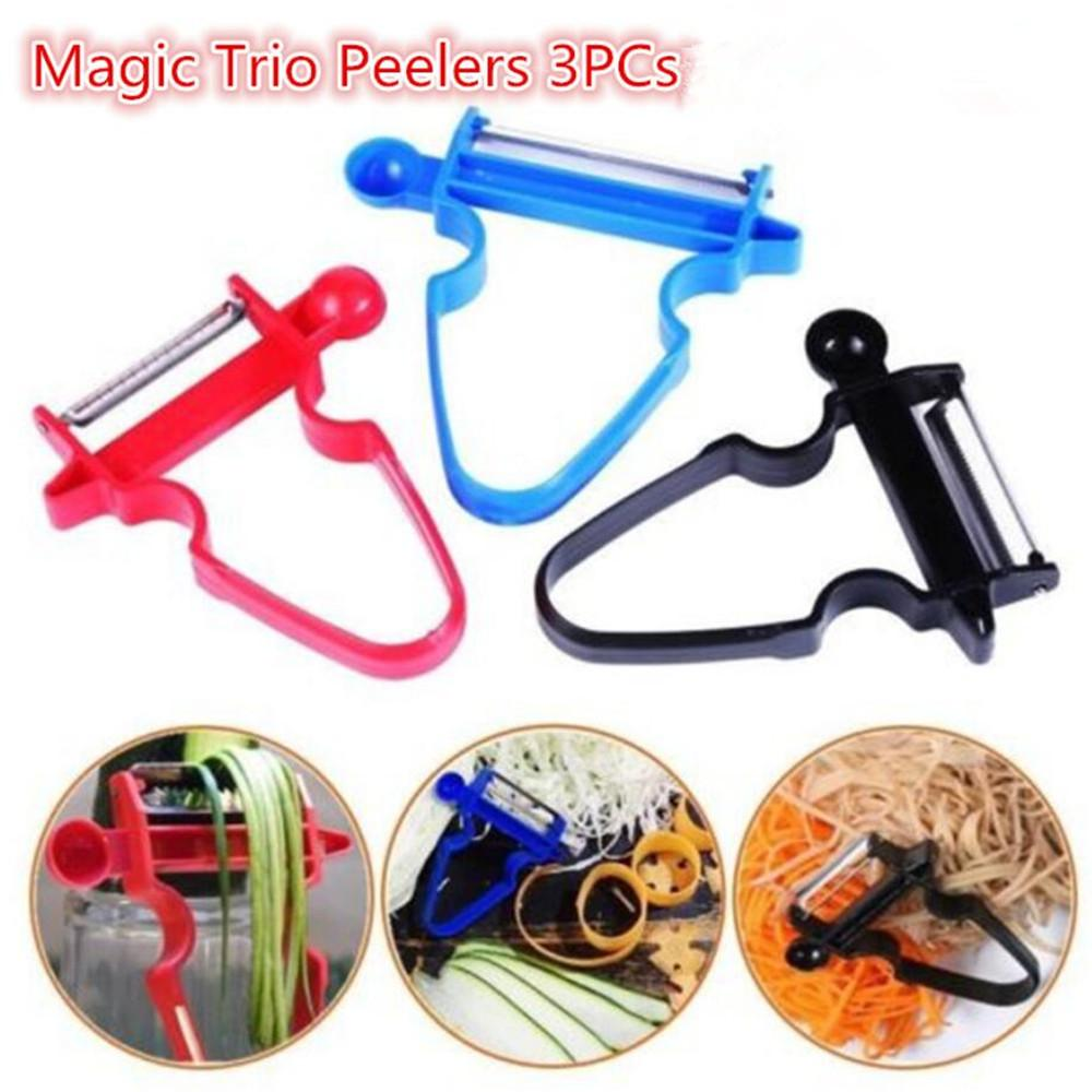 Magic Trio Peeler Slicer Shredder Blade  Kitchen Tools Set