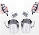 LUCOG Powerful Double Spring Whisk Electric Milk Frother Kitchen Mixer Hand Milk